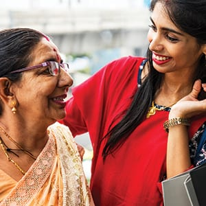 Indian-mother-daughter