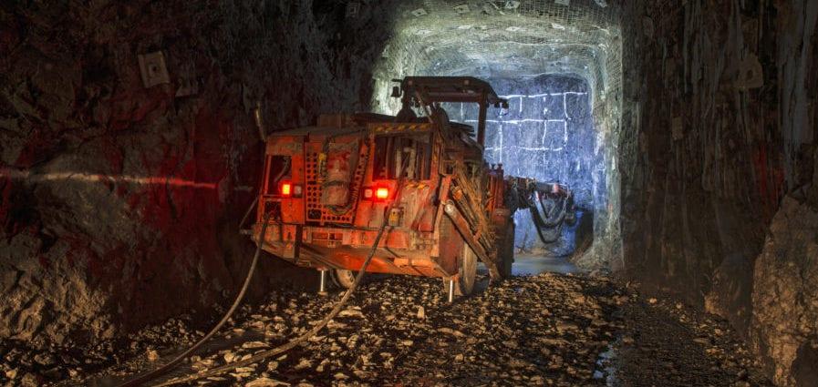 Drilling Jumbo machine for underground mining.