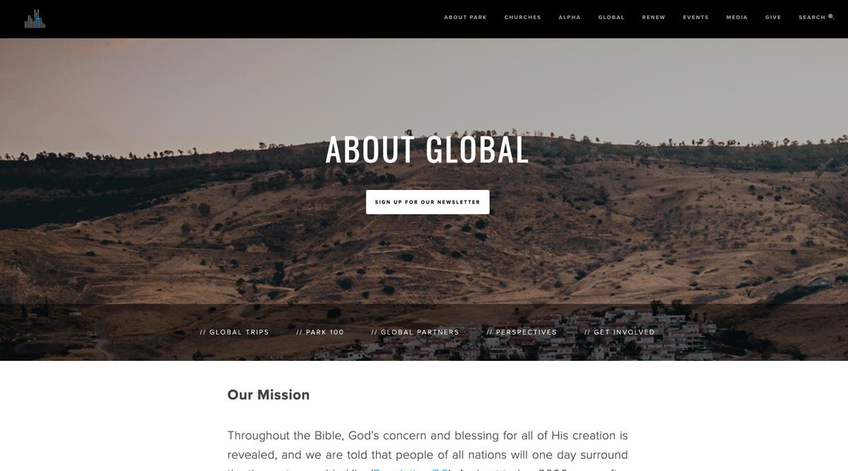 Park Community Church Website
